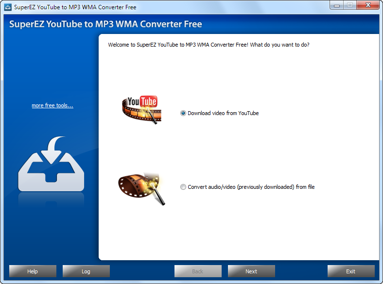 SuperEZ YouTube to MP3 WMA Converter