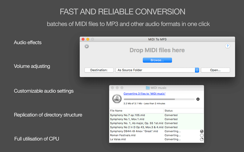 MIDI to MP3 converter for Mac