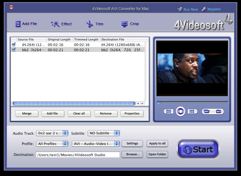 4Videosoft AVI Converter for Mac