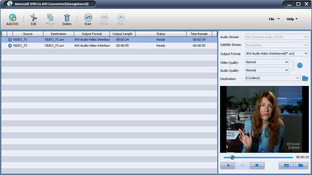 Aneesoft DVD to AVI Converter