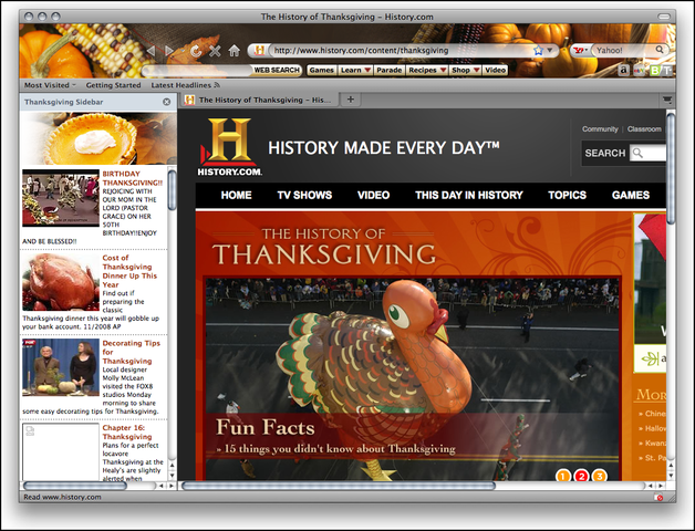 Thanksgiving Theme for Firefox