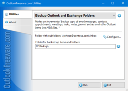 Backup Outlook and Exchange Folders