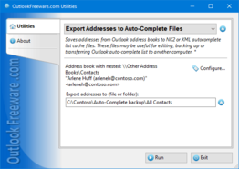 Export Addresses to Auto-Complete Files