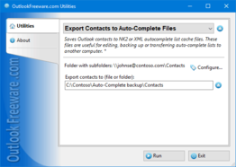 Export Contacts to Auto-Complete Files