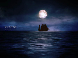 Moonlit Ship Screensaver