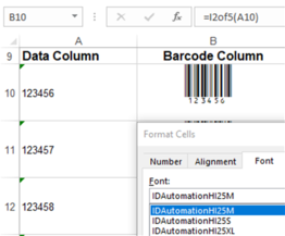 Interleaved 2 of 5 Barcode Fonts Package