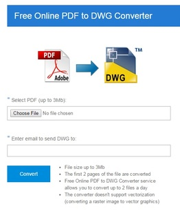 Free Online PDF to DWG Converter