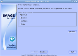 Image for Linux using GUI