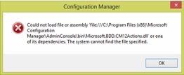 CM2012 Console MDT Integration Error Fix