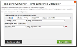 Time Zone Converter – Time Difference Calculator