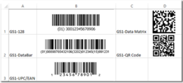GS1 Linear and 2D Barcode Font Suite