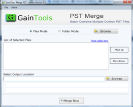GainTools Merge PST