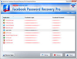 XenArmor Facebook Password Recovery Pro