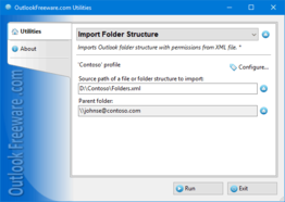 Import Folder Structure for Outlook