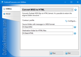 Convert MSG to HTML for Outlook