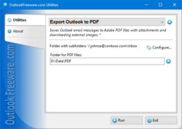 Export Outlook to PDF