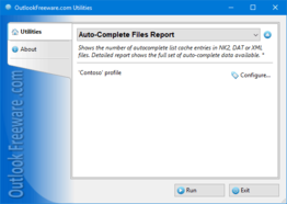 Auto-Complete Files Report for Outlook