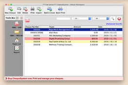 ChequeSystem Cheque Printing Software for Mac