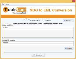 ToolsBaer MSG to EML Conversion