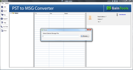 GainTools PST to MSG Converter