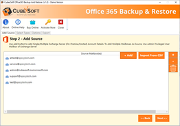 CubexSoft Office 365 Backup