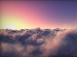 Flying Clouds Screensaver