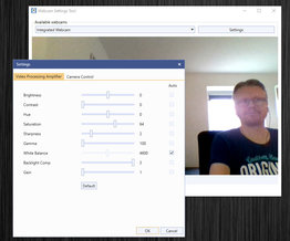 Webcam Settings Tool for Windows