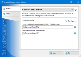 Convert EML to PDF for Outlook