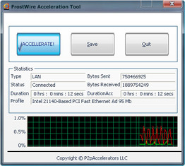 FrostWire Acceleration Tool